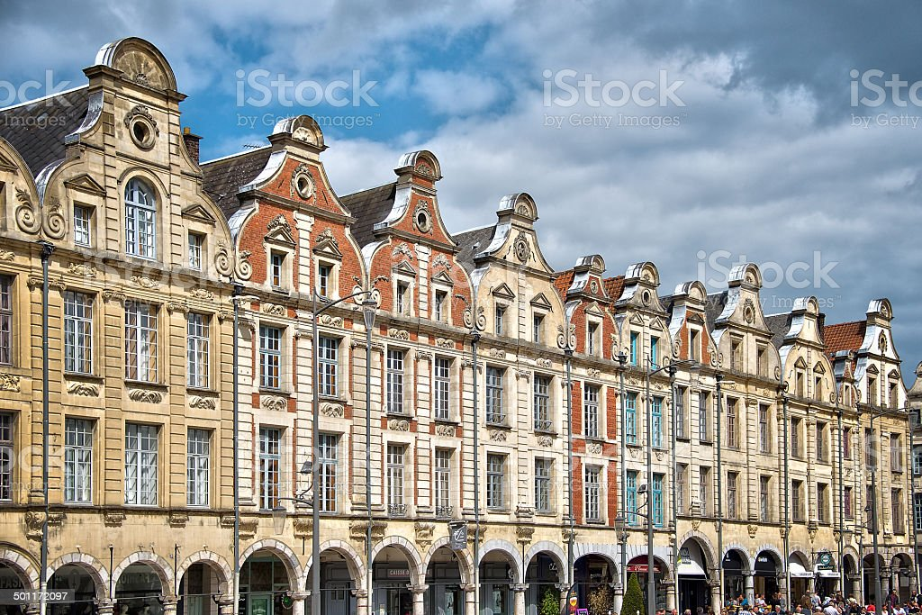 Place des Heros, Arras, North of France stock photo