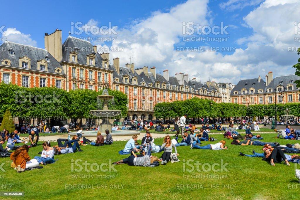 Place des Vosges - Paris, France stock photo