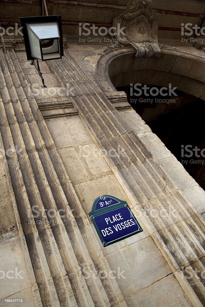 Place des Vosges royalty-free stock photo