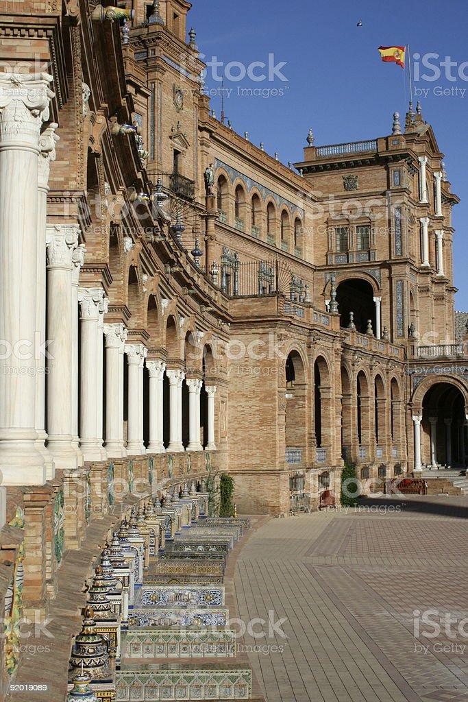 Place d'Espagne à Séville stock photo