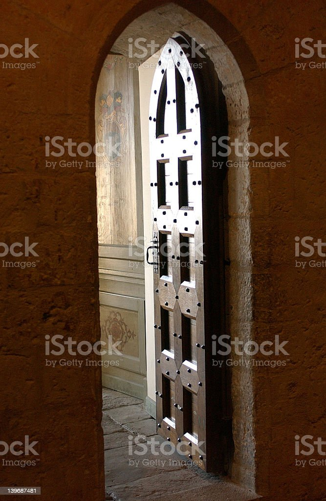 Place Door.Popes Palace.Avignon royalty-free stock photo