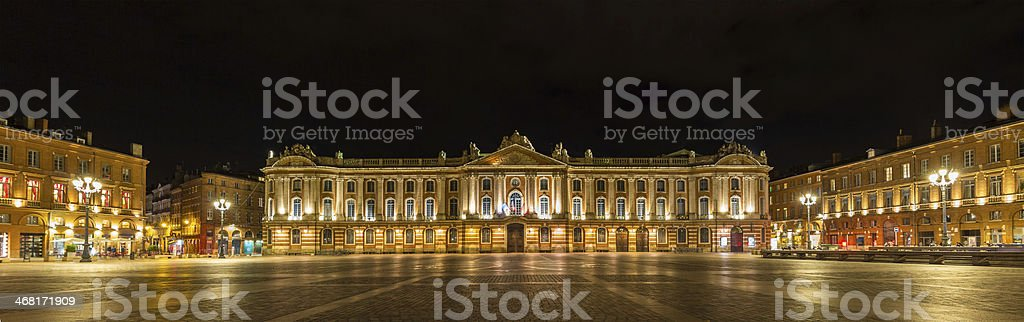 Place du Capitole in Toulouse - France stock photo