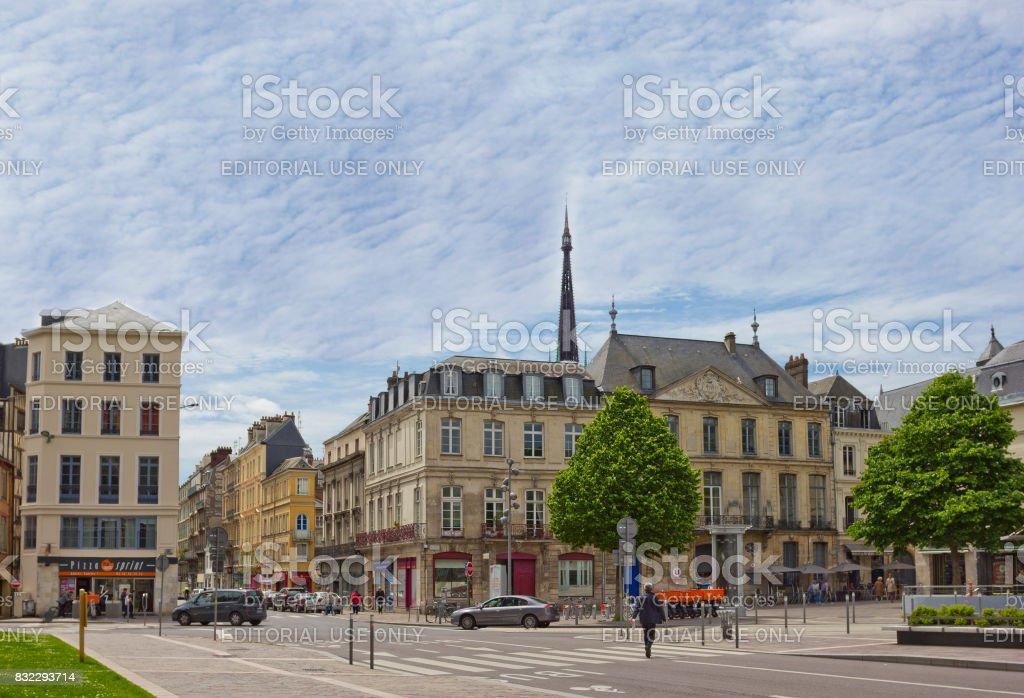 Place du General de Gaulle in Rouen, France stock photo