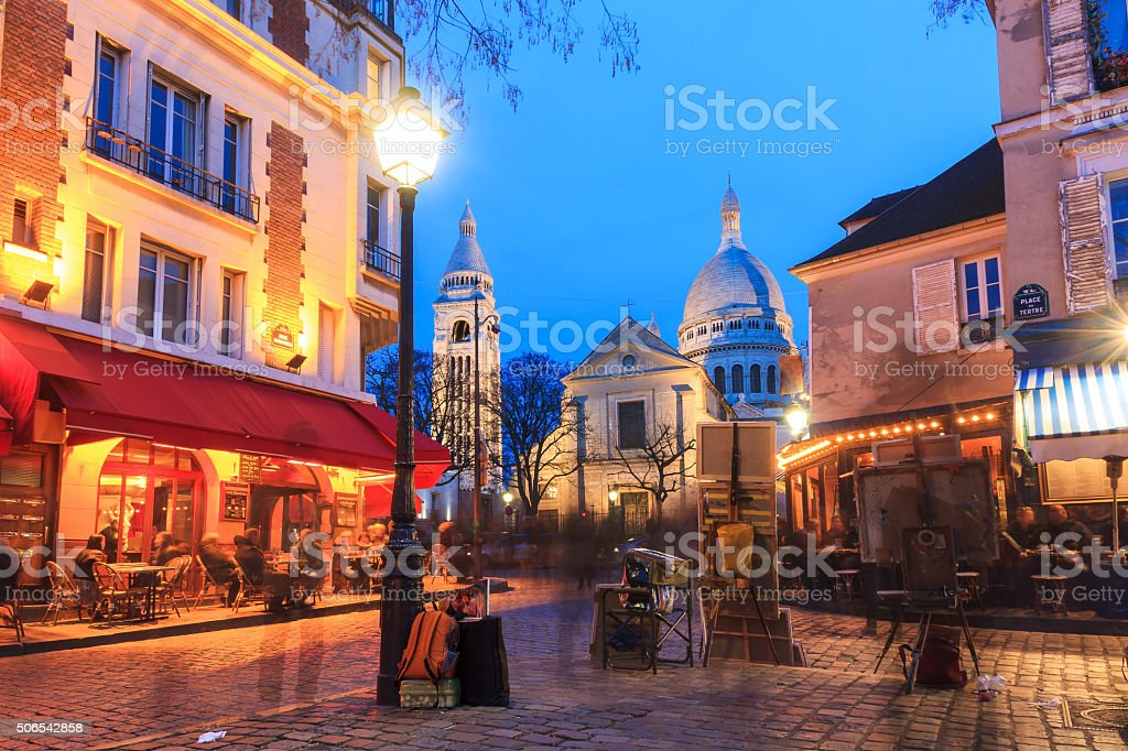Place du Tertre stock photo