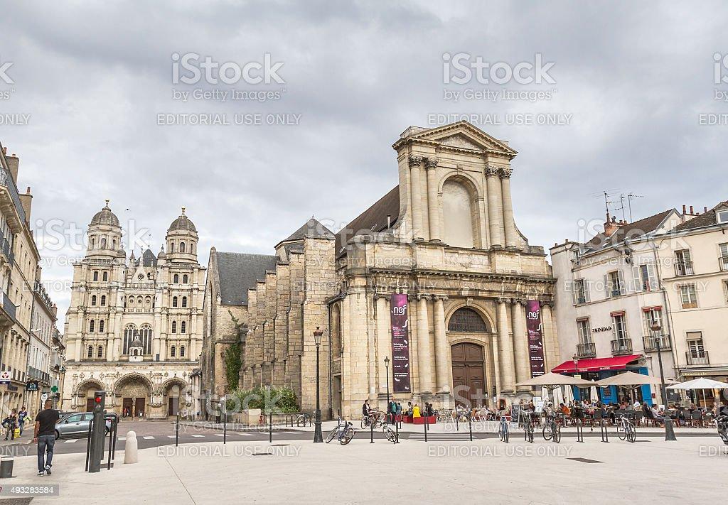 Place du Théâtre - Dijon - France stock photo