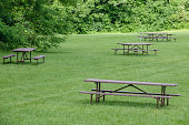 Place for a picnic in the park