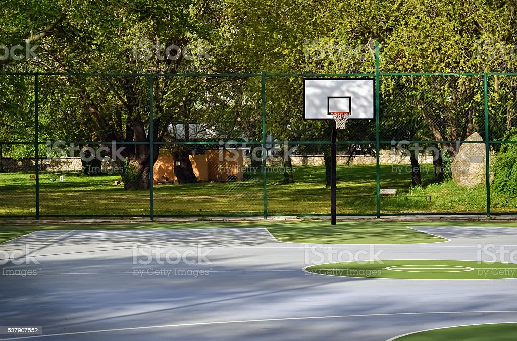 Place for basketball stock photo