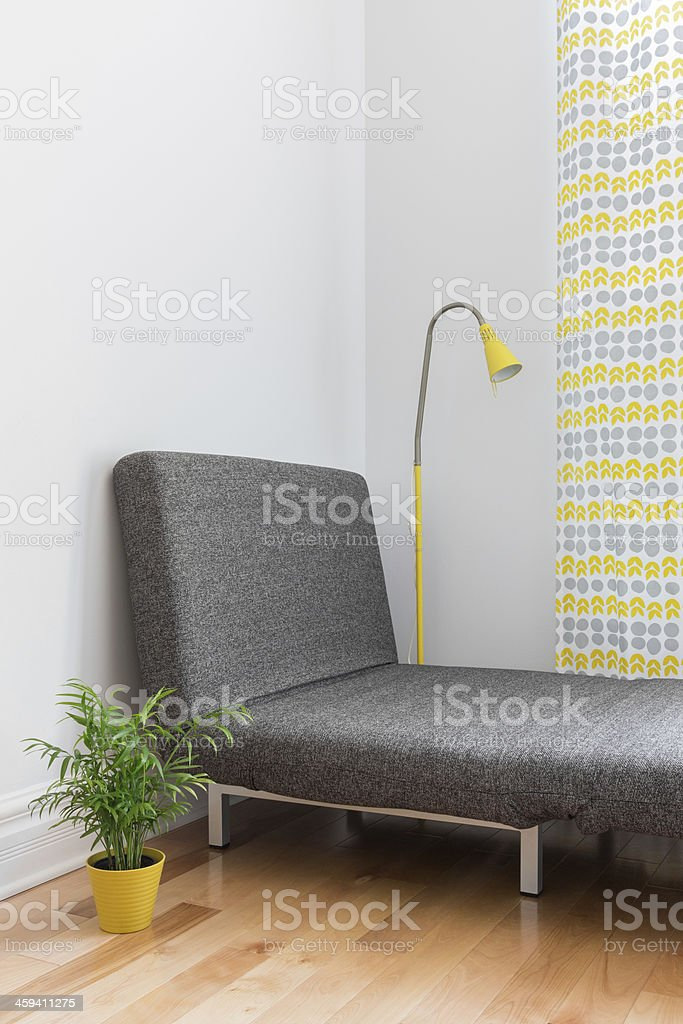 Place for relaxation in a modern home stock photo