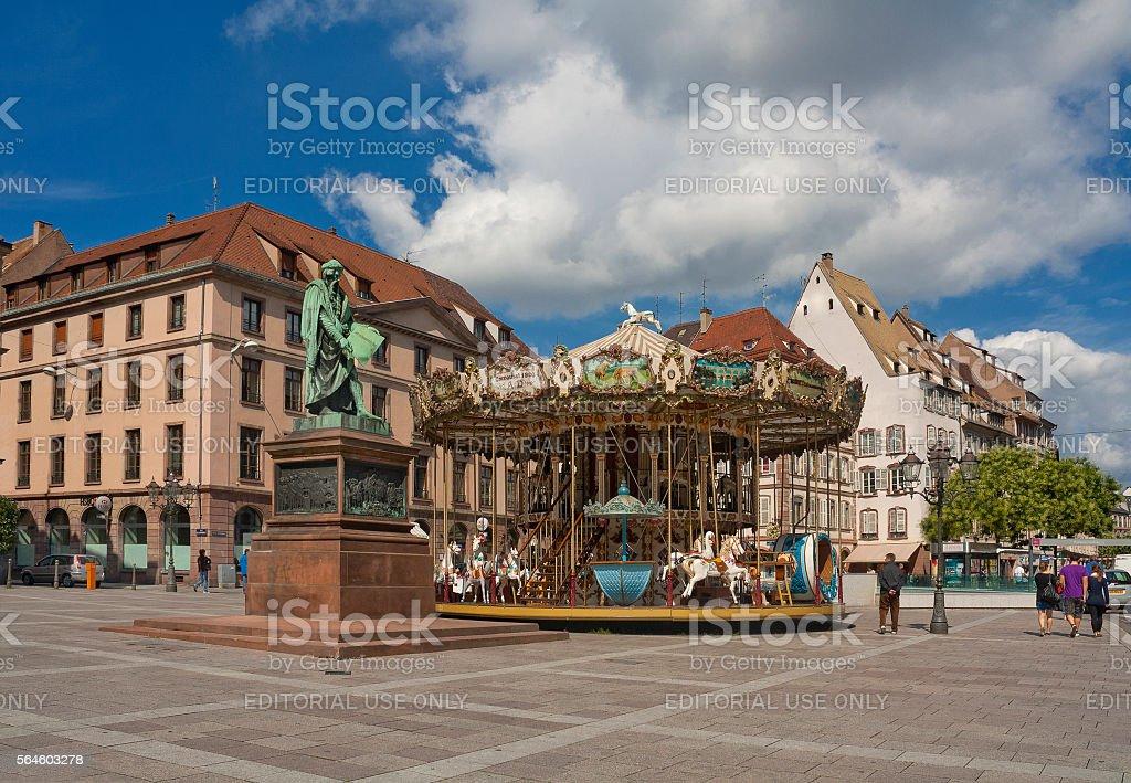 Place Gutenberg in Strasbourg, France stock photo
