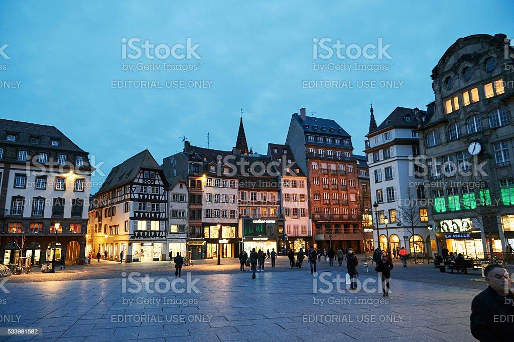 Place Kelber, Strasbourg stock photo
