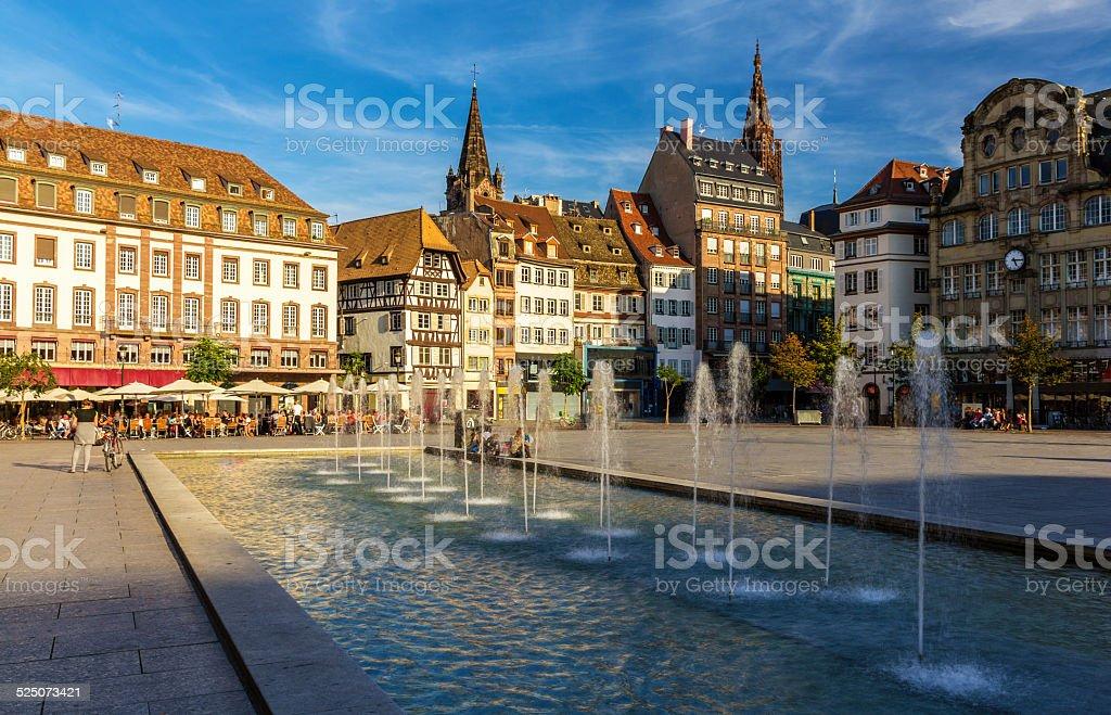 Place Kleber in Strasbourg - Alsace, France stock photo