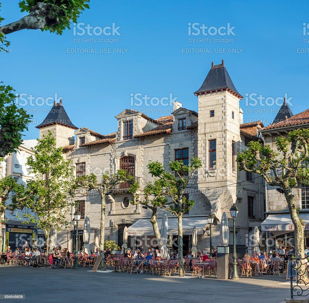 Place Louis XIV in Saint Jean de Luz. stock photo