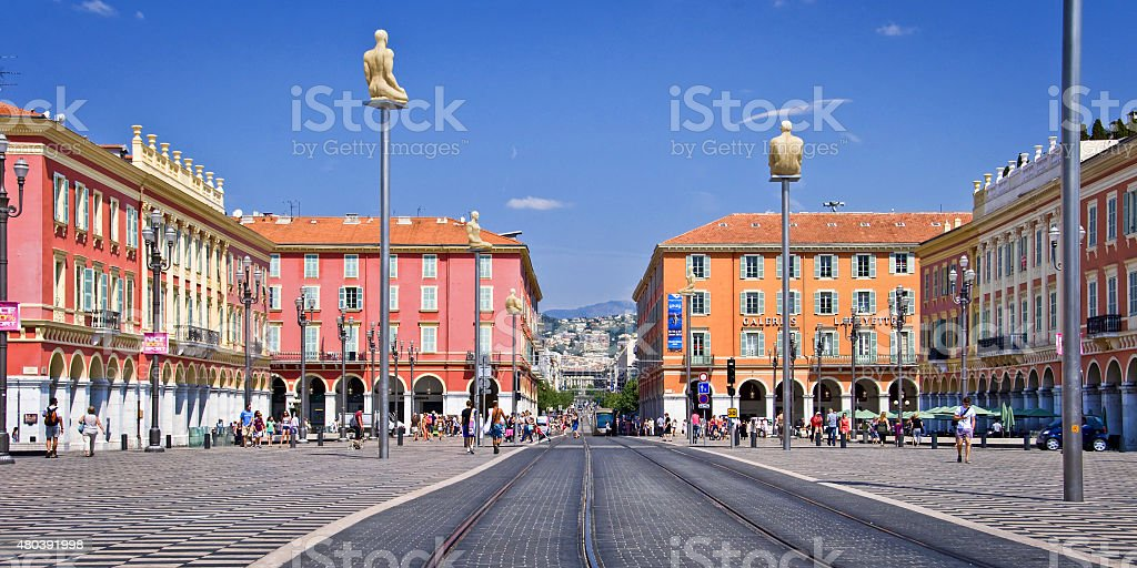 Place Massena in the city of Nice stock photo