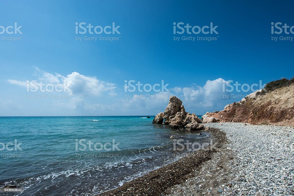 Place of birth of the goddess Aphrodite, Cyprus, Paphos stock photo