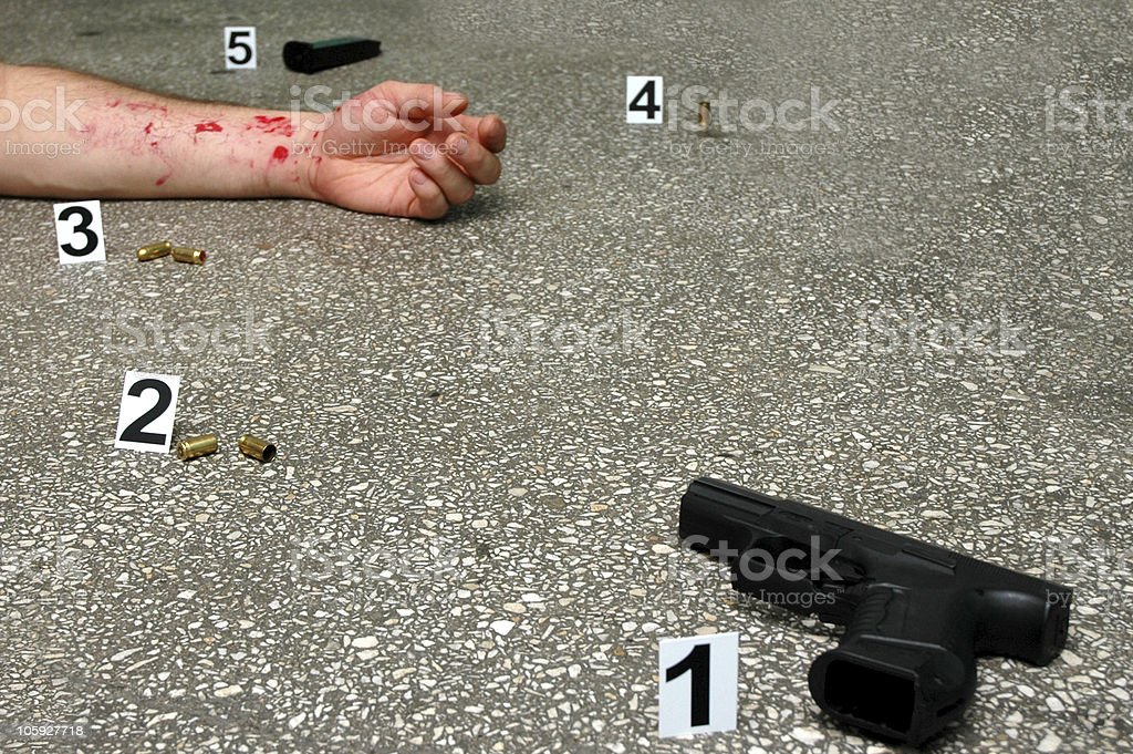 Place of murder royalty-free stock photo