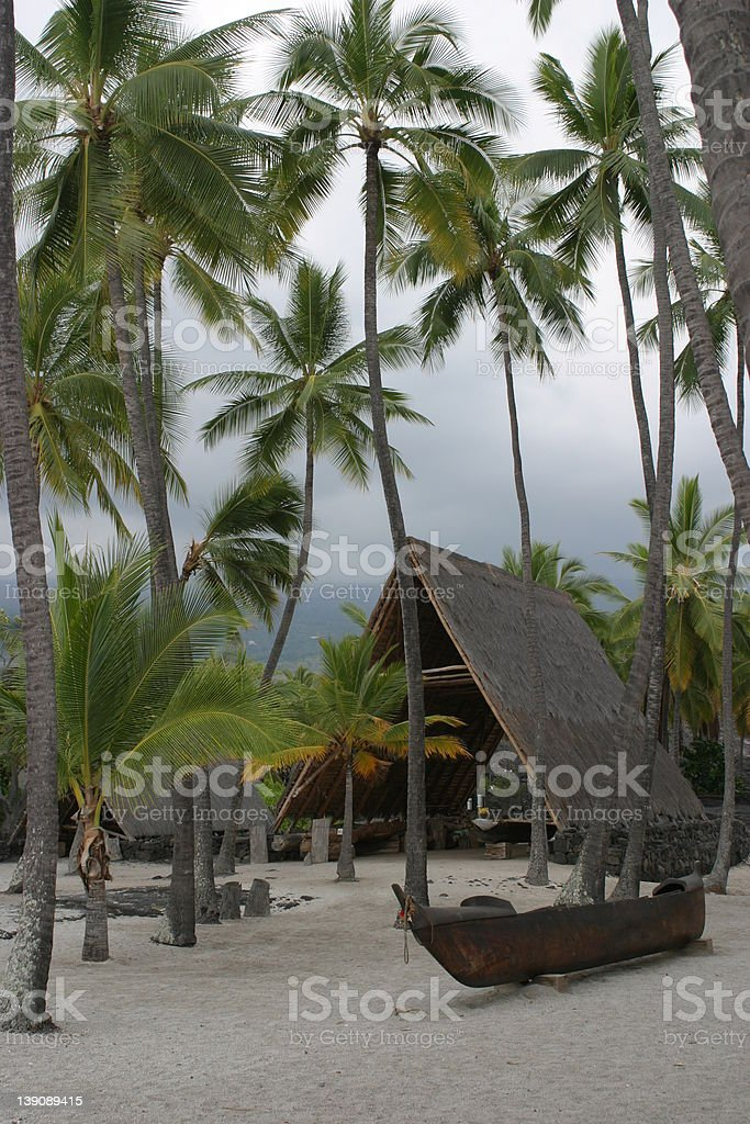 Place of Refuge Hawaii royalty-free stock photo