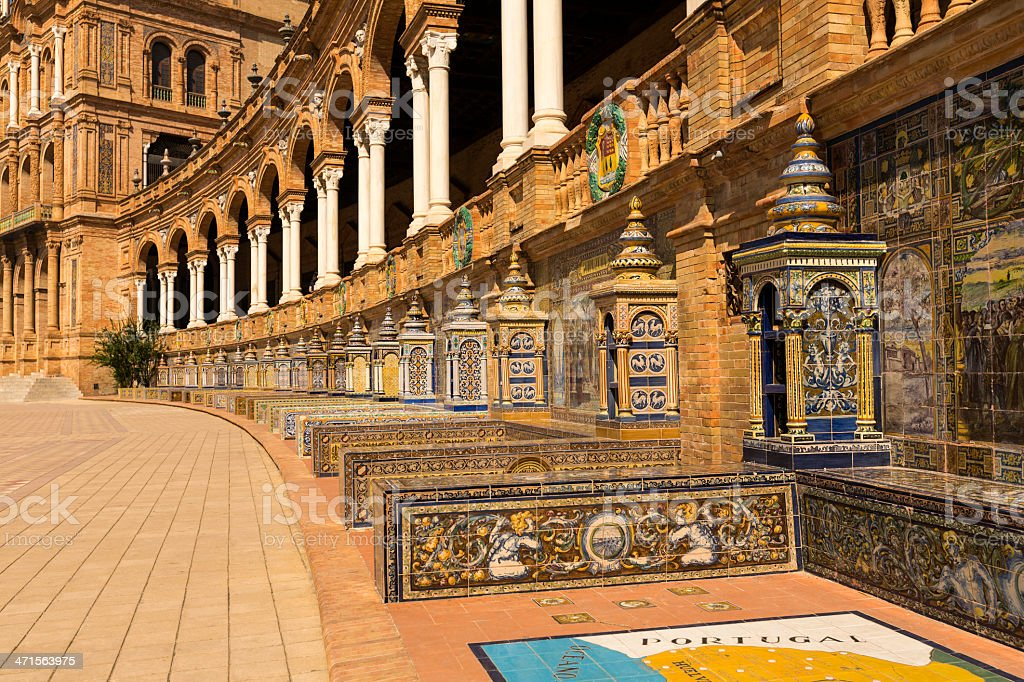 'Place de l'Espagne' in Seville royalty-free stock photo