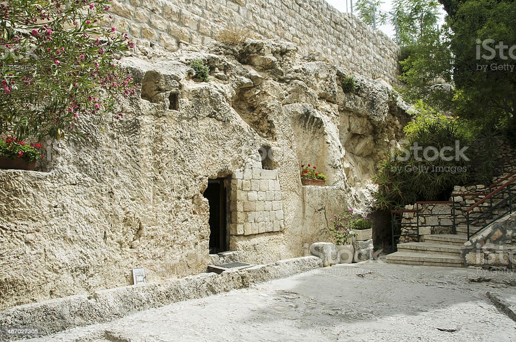 place of the resurrection  Jesus Christ royalty-free stock photo