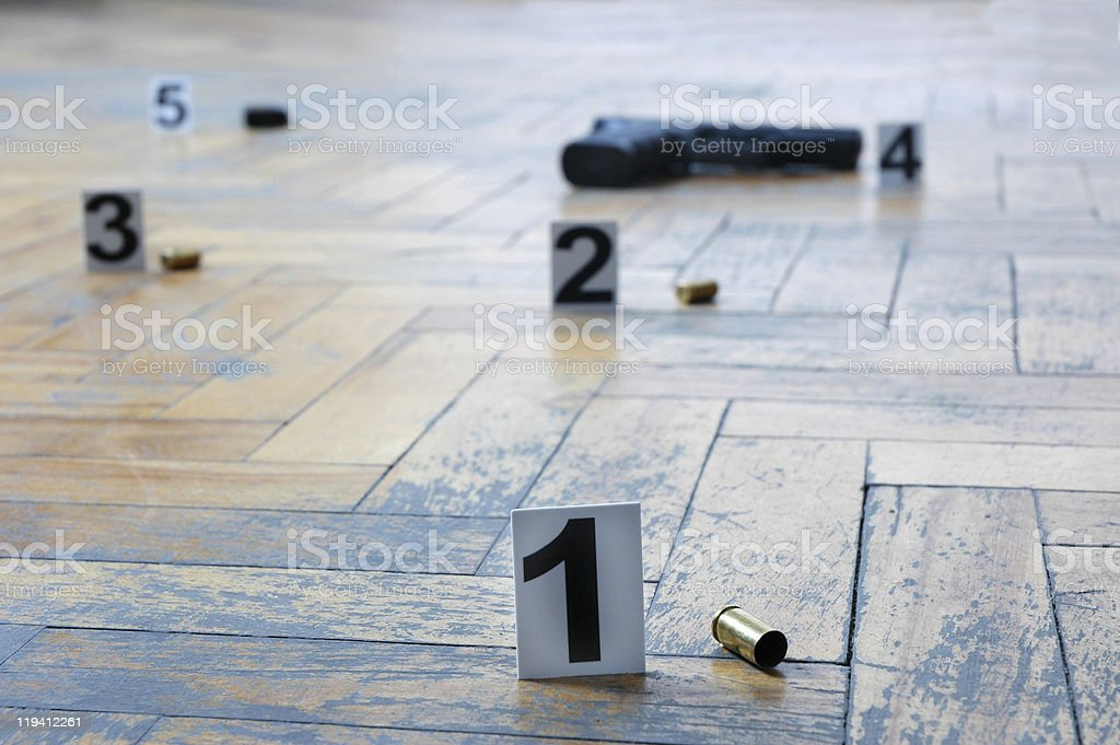 place of the shooting royalty-free stock photo