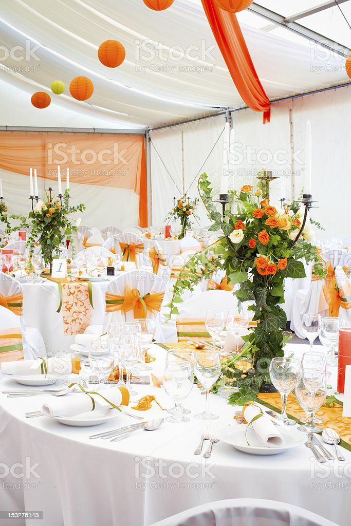 place of wedding or another catered event royalty-free stock photo