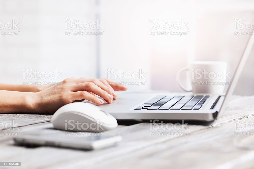 Place of work stock photo