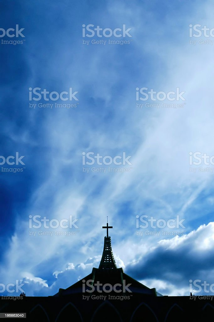 Place of worship against sky royalty-free stock photo