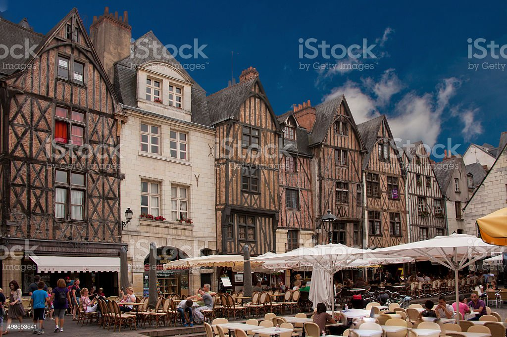 Place Plumereau in Tours stock photo