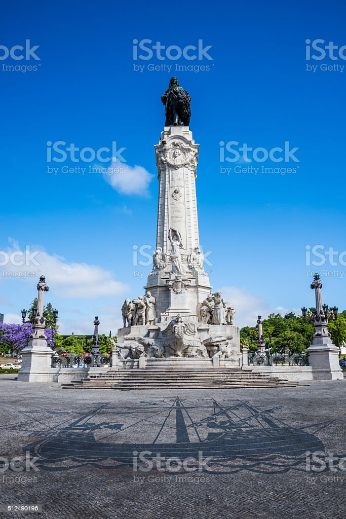 Place pombal marquess, Lisbon. stock photo