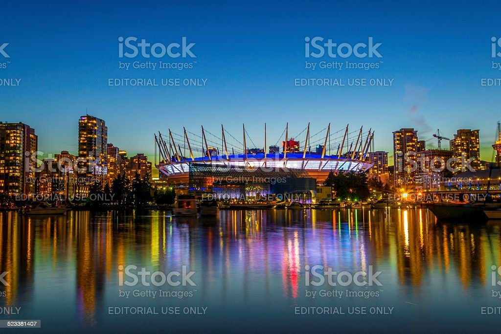 BC Place reflections stock photo