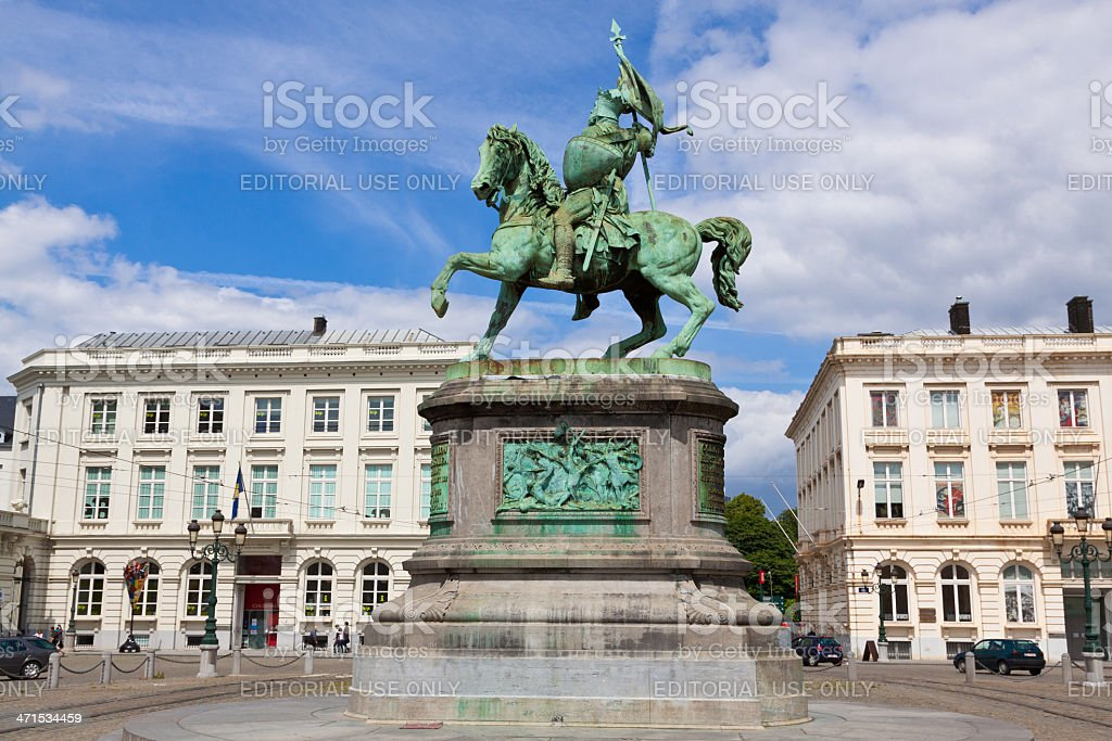 Place Royale, Brussels. stock photo