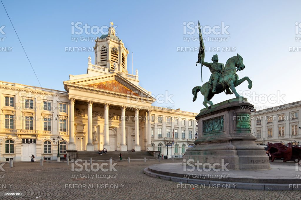 Place Royale In Brussels, Belgium stock photo