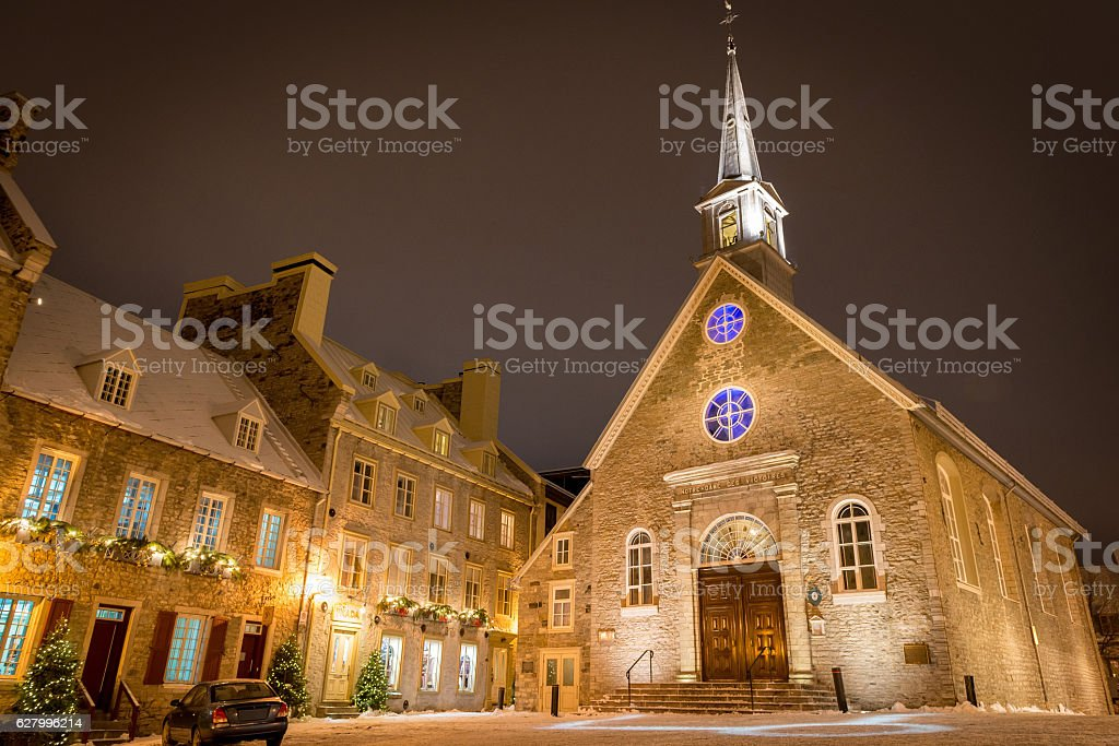 Place Royale of Quebec City stock photo