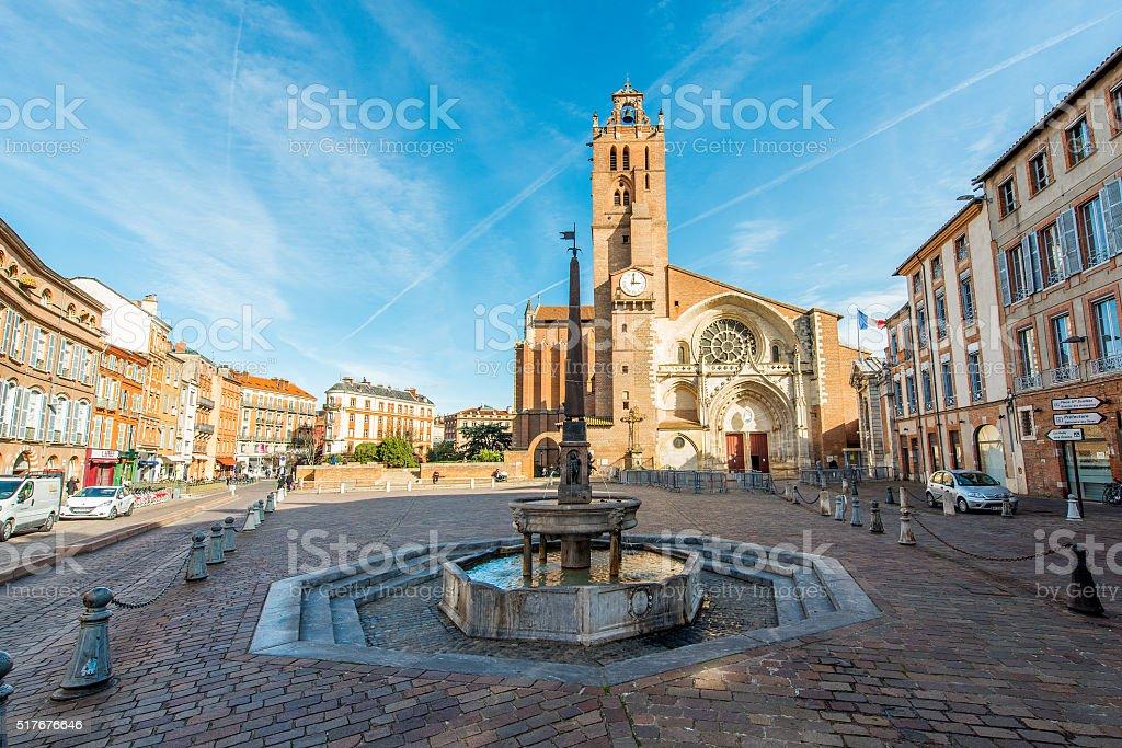 Place Saint-etienne, Toulouse. stock photo