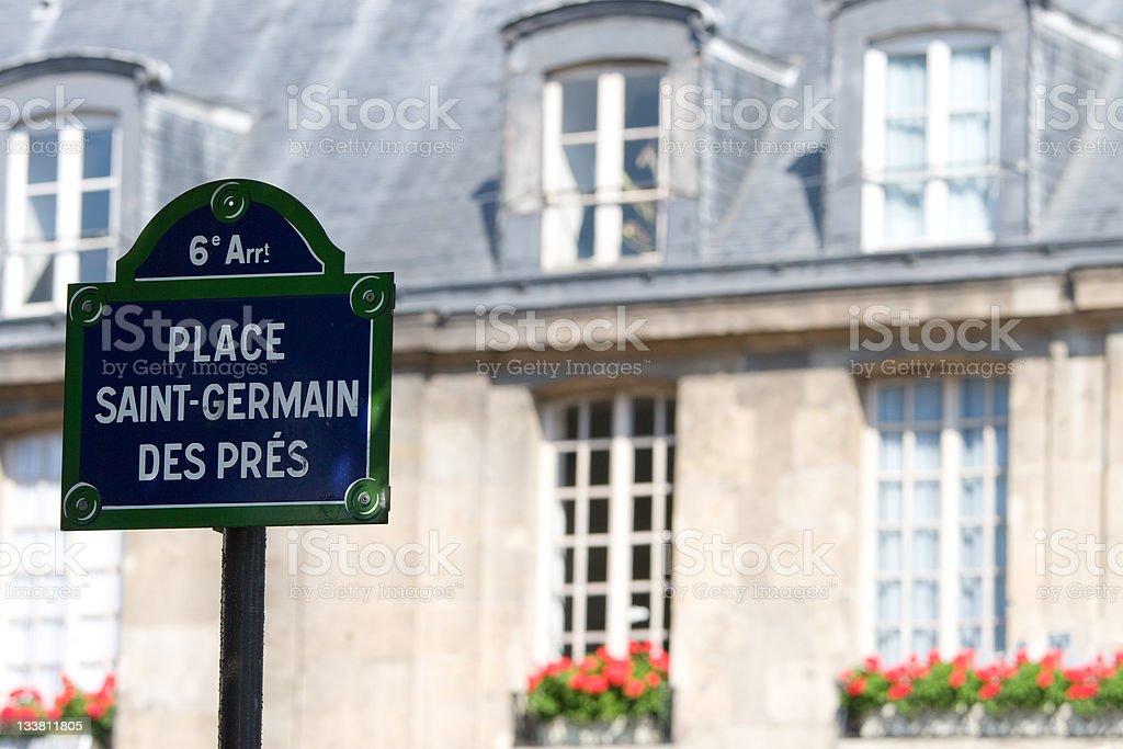 Place Saint-Germain des Pres stock photo