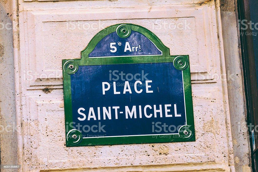 Place Saint-Michel, Paris stock photo