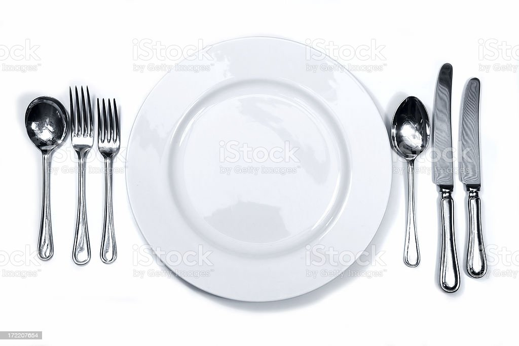 Place setting 2 royalty-free stock photo