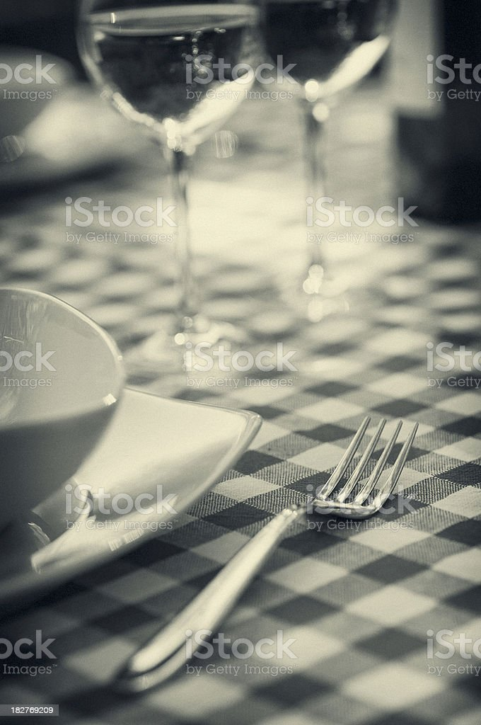 Place Setting and Wine royalty-free stock photo