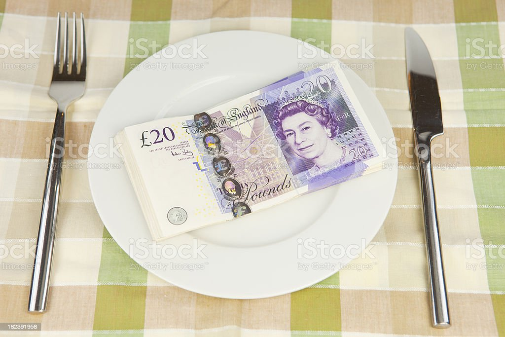 Place Setting For An Expensive Meal stock photo