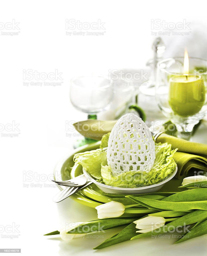 Place Setting for Easter royalty-free stock photo