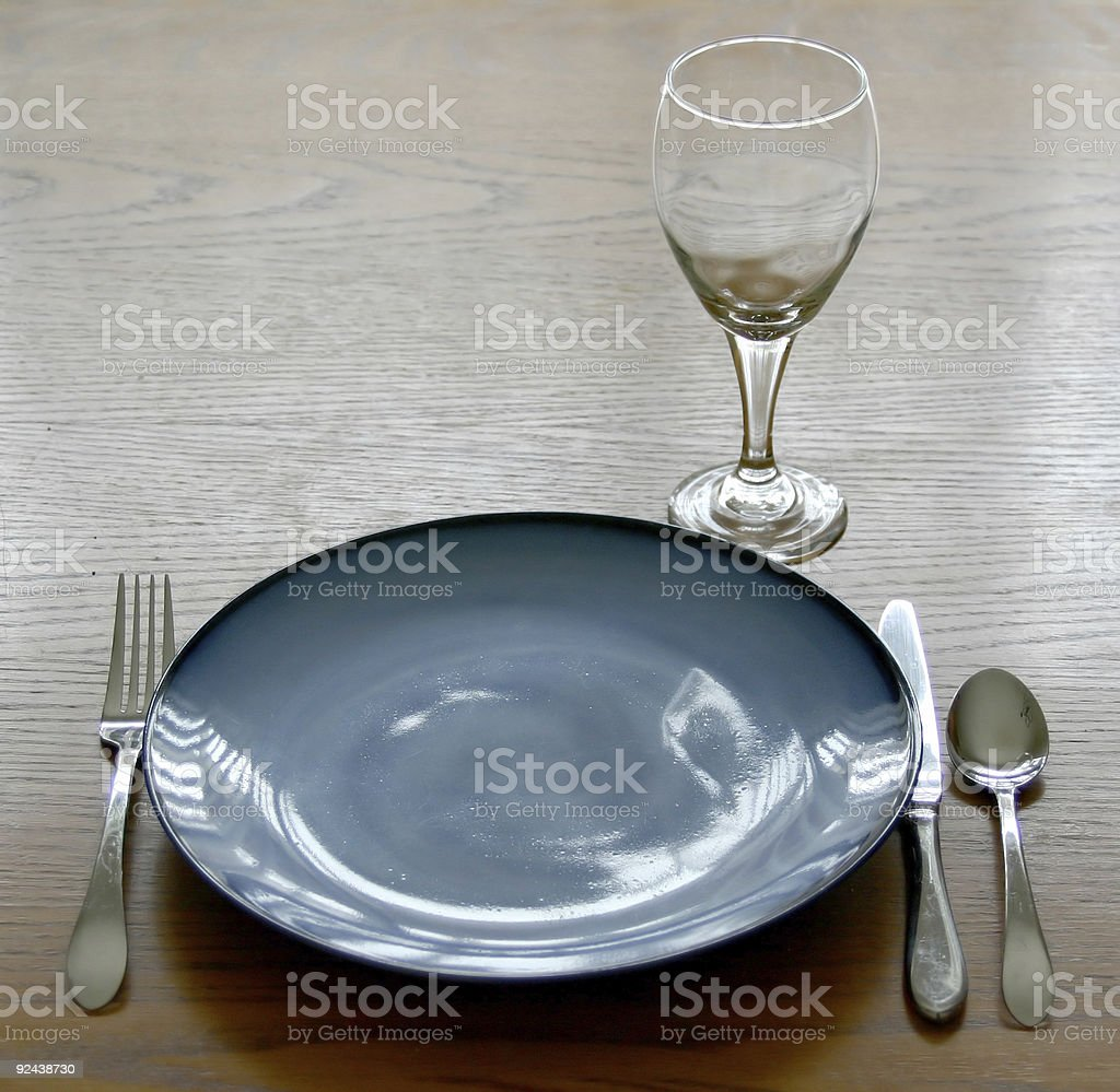 Place setting of dishes royalty-free stock photo