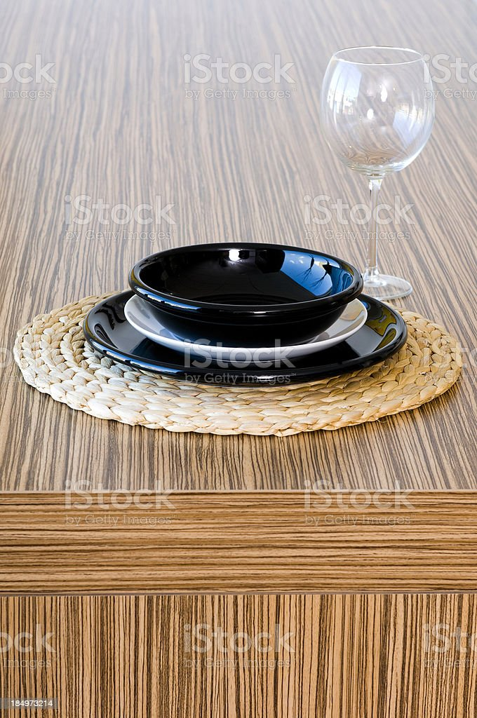 place setting on counter top royalty-free stock photo