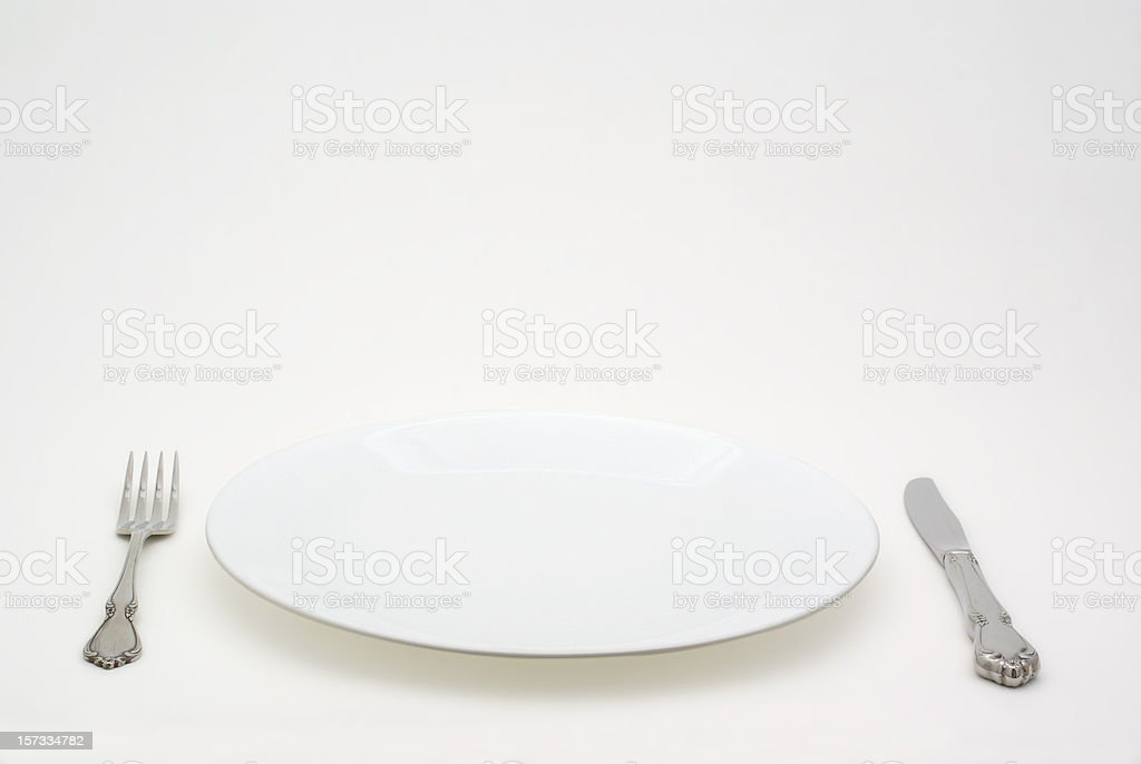 place setting with copy space royalty-free stock photo