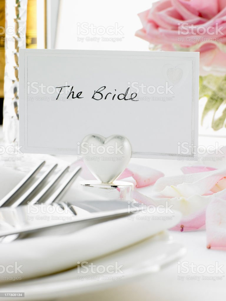 Place Settings For Bride royalty-free stock photo