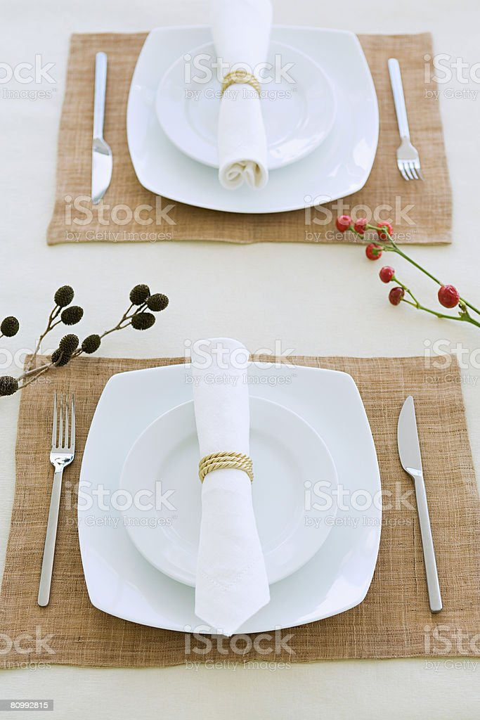 Place settings royalty-free stock photo