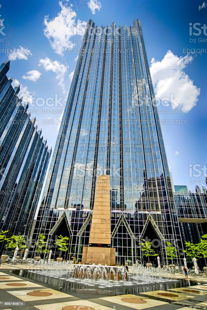 PPG Place skyscraper in downtown Pittsburgh, Pennsylvania USA stock photo