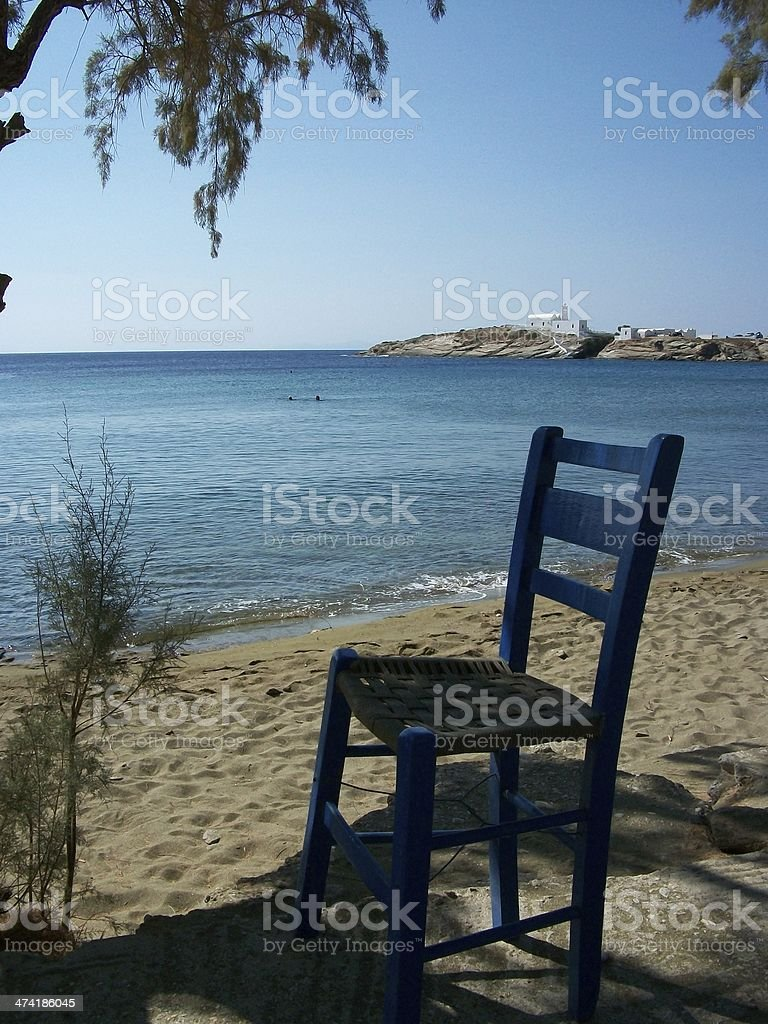 place to relax in sifnos stock photo