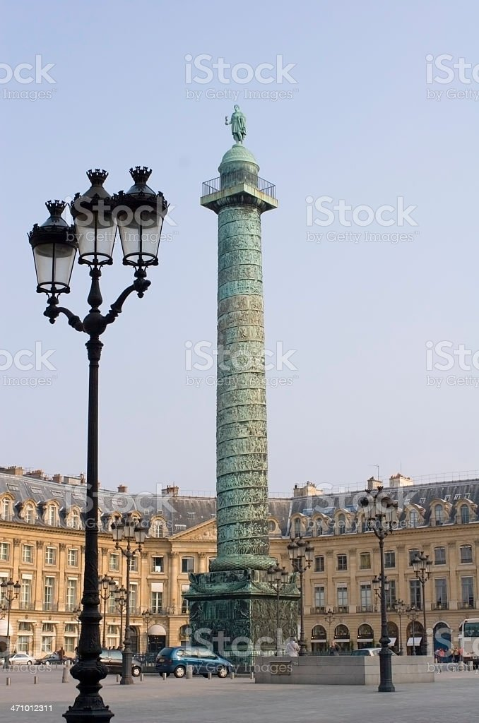 Place Vendome in Paris, with column royalty-free stock photo