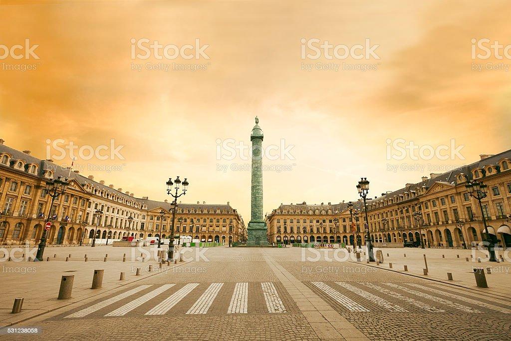 Place Vendome , Paris stock photo