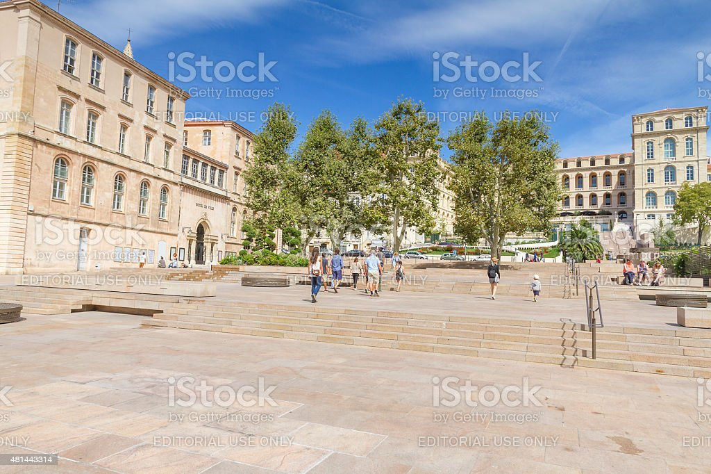 Place Villeneuve-Bargemon - Marseille stock photo
