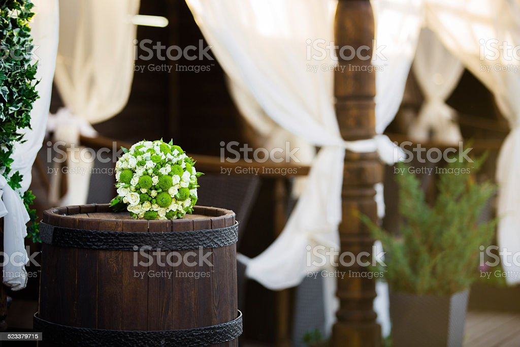 Place with Bouquet at Wedding royalty-free stock photo